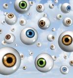 Visione e fondo della palla dell'occhio Fotografia Stock