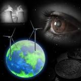 Visione economica del futuro, centrale elettrica Fotografie Stock