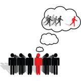 Visione, idee e pensare illustrazione di stock
