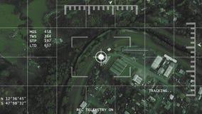visione notturna aerea 4K che segue il metraggio di ricerca della vicinanza video d archivio