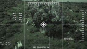 visione notturna 4K che segue il metraggio dell'antenna delle pecore stock footage