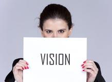 Visione strategica di affari Fotografia Stock