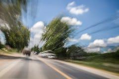 Visione vaga e doppia mentre guidando immagini stock