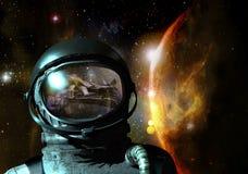 Visioni del cosmonauta Immagini Stock