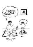 Visioni di meditazione (2008) Fotografia Stock
