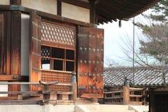 Visionkorridor av den Horyu jien i Nara Royaltyfria Foton