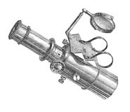 Visionnement antique de microscope illustration libre de droits