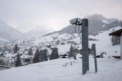 Visionnement de caméra de sécurité Photo stock