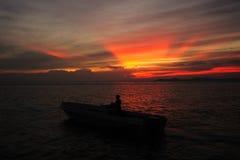 visionnement de coucher du soleil Image libre de droits