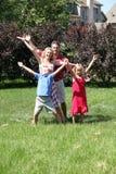 Visionnement de famille Photographie stock libre de droits