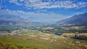 Visionnement de passage de Franschhoek Photo libre de droits