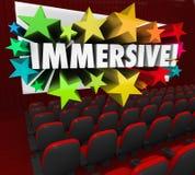 Visionnement de sensation d'expérience de divertissement de film d'Immersive Photos libres de droits