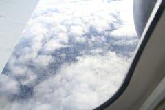 Visionnement de vue aérienne de ville de Melbourne d'avion Photo stock