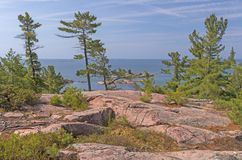 Visionnement des Great Lakes de Rocky Viewpoint photos libres de droits