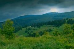 Visionnement supérieur de montagne Photo stock