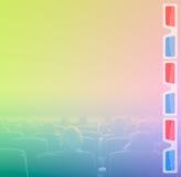 Visionneuses dans 3D la salle de cinéma, tonalité de RVB Photographie stock libre de droits