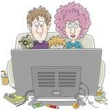 Visionneuses de TV Photo stock