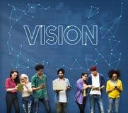 Visions-Sicht Observable-merklich grafisches Konzept stockfotografie