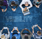 Visions-Sicht Observable-merklich grafisches Konzept lizenzfreies stockbild