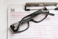 Visions-Versicherungsgläser Lizenzfreies Stockfoto