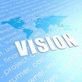 Visionsweltkarte Stockfoto
