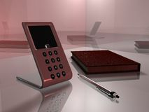 Visiophone 01 de bureau Images stock