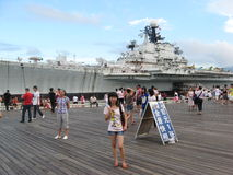 Visit the aircraft carrier of tourists in SHENZHEN Stock Image