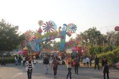 Visit the anime Lantern Festival of Tourists in shenzhen joy coast Stock Photography