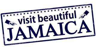 Visit beautiful Jamaica. Rubber stamp with text visit beautiful Jamaica inside,  illustration Stock Photo