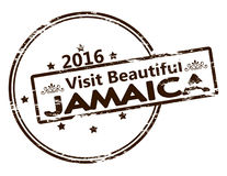 Visit beautiful Jamaica. Rubber stamp with text visit beautiful Jamaica inside, vector illustration Stock Photography