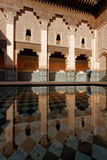 Visit of Ben Youssef Madrasa. MARRAKECH, MOROCCO, MAY 10, 2013 : The Ben Youssef Madrasa was an Islamic college in Marrakesh, Morocco, named after the Almoravid Royalty Free Stock Photos
