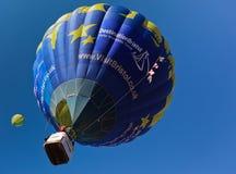 Visit Bristol UK Hot Air Balloon. Chateau d'Oex, Switzerland, January 22nd - 30th January , 2011 - Visit Bristol, UK hot air balloon advertisement at the Annual Stock Photography