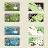 Visit card for american footbal. L, four different types, vector illustration Stock Photography