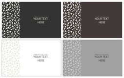 Visit card cover. 4 design colours. Black, brown, grey and white color Royalty Free Stock Photo
