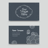 Visit Card with hand drawn abstract elements. Hand Drawn Business Card Design Royalty Free Stock Photos