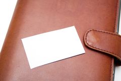 Visit card and organizer Stock Photography
