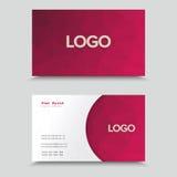 Visit Card With Polygonal Mosaic Design. Business Card With Polygonal Mosaic Design stock illustration