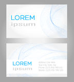 Visit card. Set of  blue visit card Royalty Free Stock Image