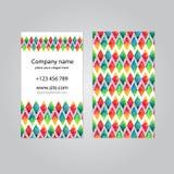 Visit card set template Stock Photos