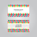Visit card set template. With watercolors background Stock Image