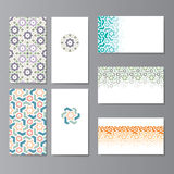 Visit cards set Royalty Free Stock Images