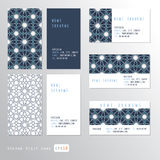 Visit cards set Royalty Free Stock Image