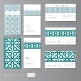 Visit cards set islamic. Visit cards set with islamic ornament, vector illustration royalty free illustration