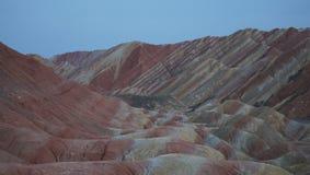 Visit China`s colorful Danxia landforms royalty free stock image