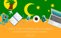 Visit Cocos Keeling Islands concept for your. Stock Image