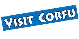 Visit Corfu Stock Image