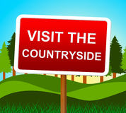 Visit The Countryside Means Message Nature And Signboard Stock Image
