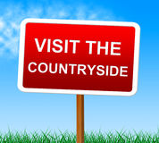 Visit The Countryside Shows Scene Natural And Outdoor Stock Image
