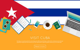 Visit Cuba concept for your web banner or print. Royalty Free Stock Photography