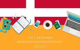 Visit Denmark concept for your web banner or. Stock Photos
